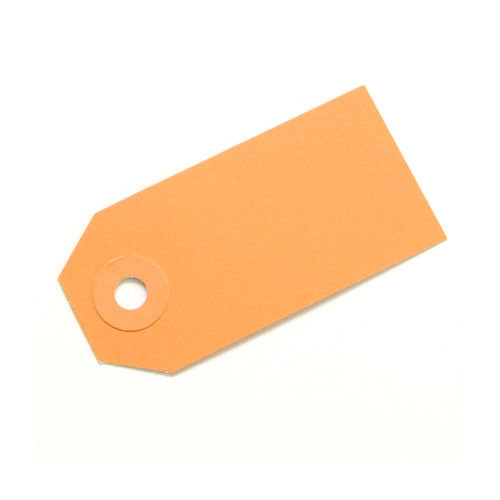 Orange gift tags for wedding favours, place settings, birthday party gifts, present labels