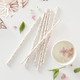 Floral print paper straws for tea parties, birthdays, hen dos and baby showers