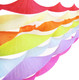 Rainbow crepe paper streamers for birthday parties, hen dos, baby showers and weddings