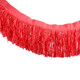 Red tissue fringe garland festooning for summer parties and festival weddings