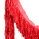 Red tissue fringe garland festooning for summer parties and festival weddings
