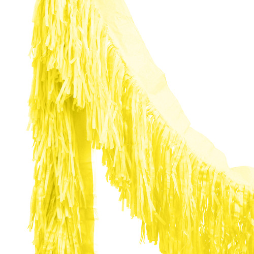 Yellow tissue fringe garland festooning for summer parties and festival weddings