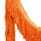 Orange tissue fringe garland festooning for summer parties and festival weddings