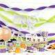 Metallic glitter trick or treat halloween party garland decoration