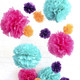 Tissue paper pom pom decoration for birthday parties, weddings, hen dos and baby showers