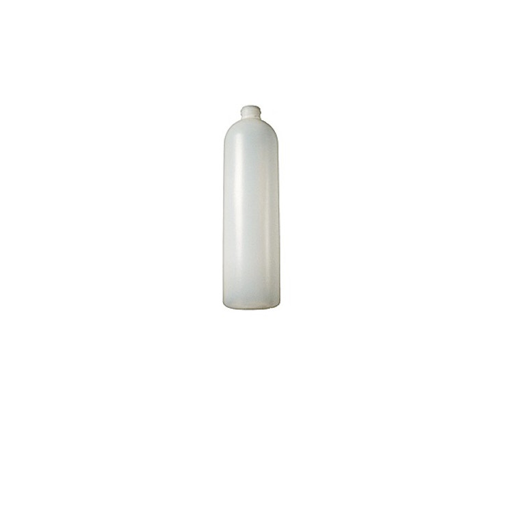 HDPE Natural Plastic Bottles, Cosmo Round. Caps NOT Included