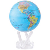 "4.5"" Globe - Blue with Political Map"