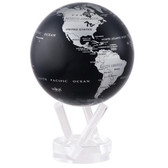 "4.5"" Globe - Silver/Black Metallic"