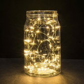 Silver Wire LED Fairy String Lights - Warm White