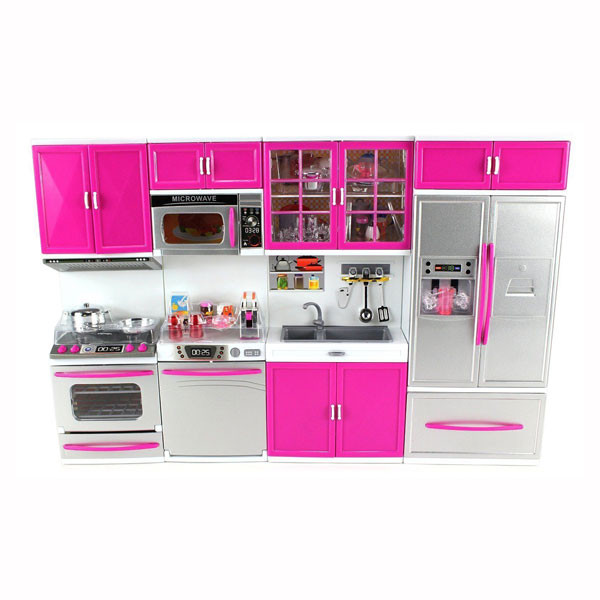 my modern kitchen 32 deluxe battery operated kitchen playset 2shopper - Kitchen Playset