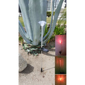 LED Flashing Solar Rose Light Garden Stake, Set of 2