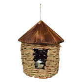 Large Hanging Grass Twine Bird House