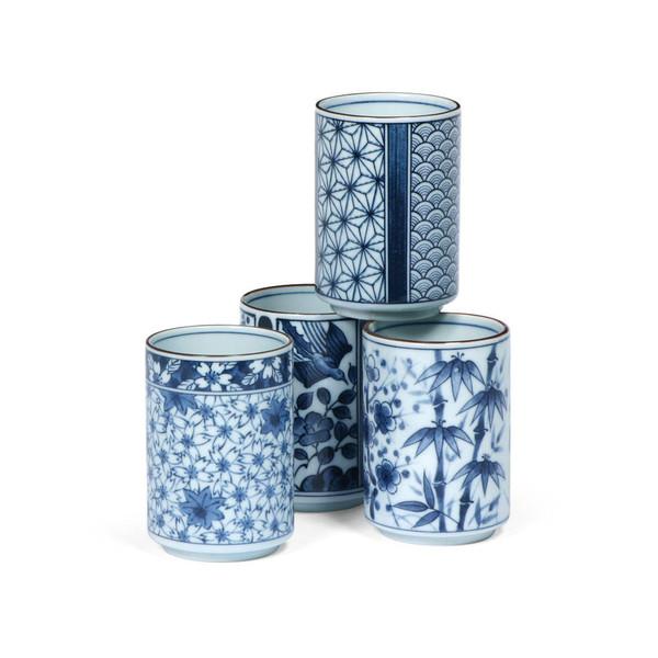 Blue Patterns Teacup Set