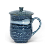 Blue & White Covered Mug
