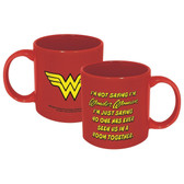 DC Wonder Woman Not Saying 20 oz. Ceramic Mug