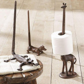 Cast Iron Animal Paper Towel Holder