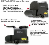 "GG&G Flip Up Lens Covers For EOTech XPS Holosights With ""Zombie Killer"""