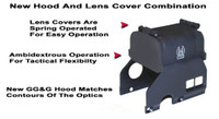 "GG&G Hood & Flip Up Lens Covers For EOTech 516,517 With ""Front Toward Enemy"""