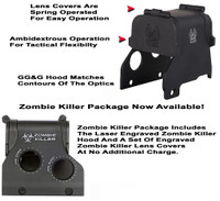 "GG&G Hood & Flip Up Lens Covers For EOTech 553,555 With ""Zombie Killer"""