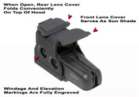GG&G Hood & Flip Up Lens Covers For EOTech 556,557 GGG-1346FTE