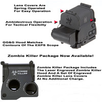 "GG&G Flip Up Lens Covers For EOTech EXPS 3-0, 3-2 And 3-4 Holosights, With ""Zombie Killer"""