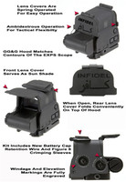 "GG&G Flip Up Lens Covers For EOTech EXPS 2-0 AND EXPS 2-2 Holosights, With ""INFIDEL"" Front Cover"