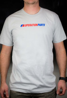 Operation Parts Logo T-Shirt, New Silver