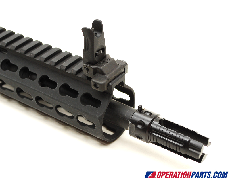 Flip Up Micro Front Sight and 3 Prong Flash Hider