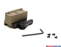 American Defense Mfg. Aimpoint Micro One Piece Mount, Co-Witness Height, Std. Lever, FDE