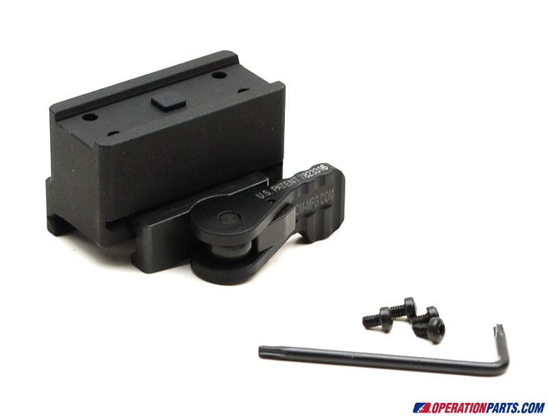 American Defense Mfg. Aimpoint Micro One Piece Mount, Co-Witness Height, Tactical Lever, Black