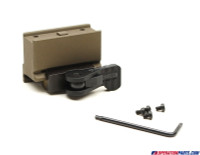 American Defense Mfg. Aimpoint Micro One Piece Mount, SOCOM Height, Tactical Lever, FDE