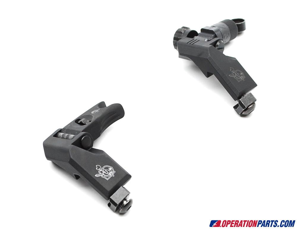 Knight's Armament 45 Degree Offset Folding Micro Sight Set, 200-600m, Clamp Mount