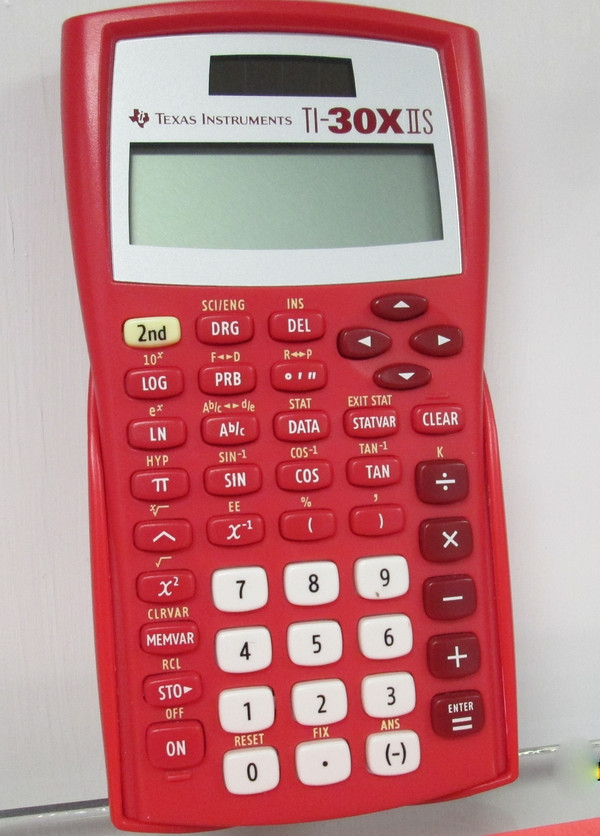 TI-30XIISR (Solar Red) Approved OGT Scientific Calculator