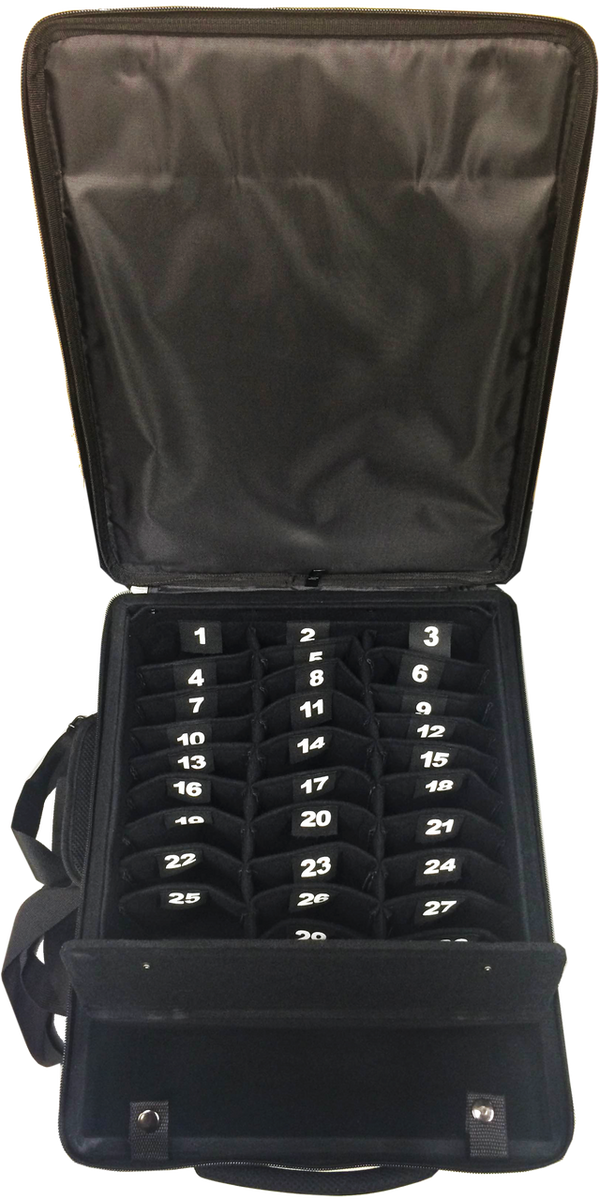 Storage Case for 30 Graphing Calculators with Handle and Wheels