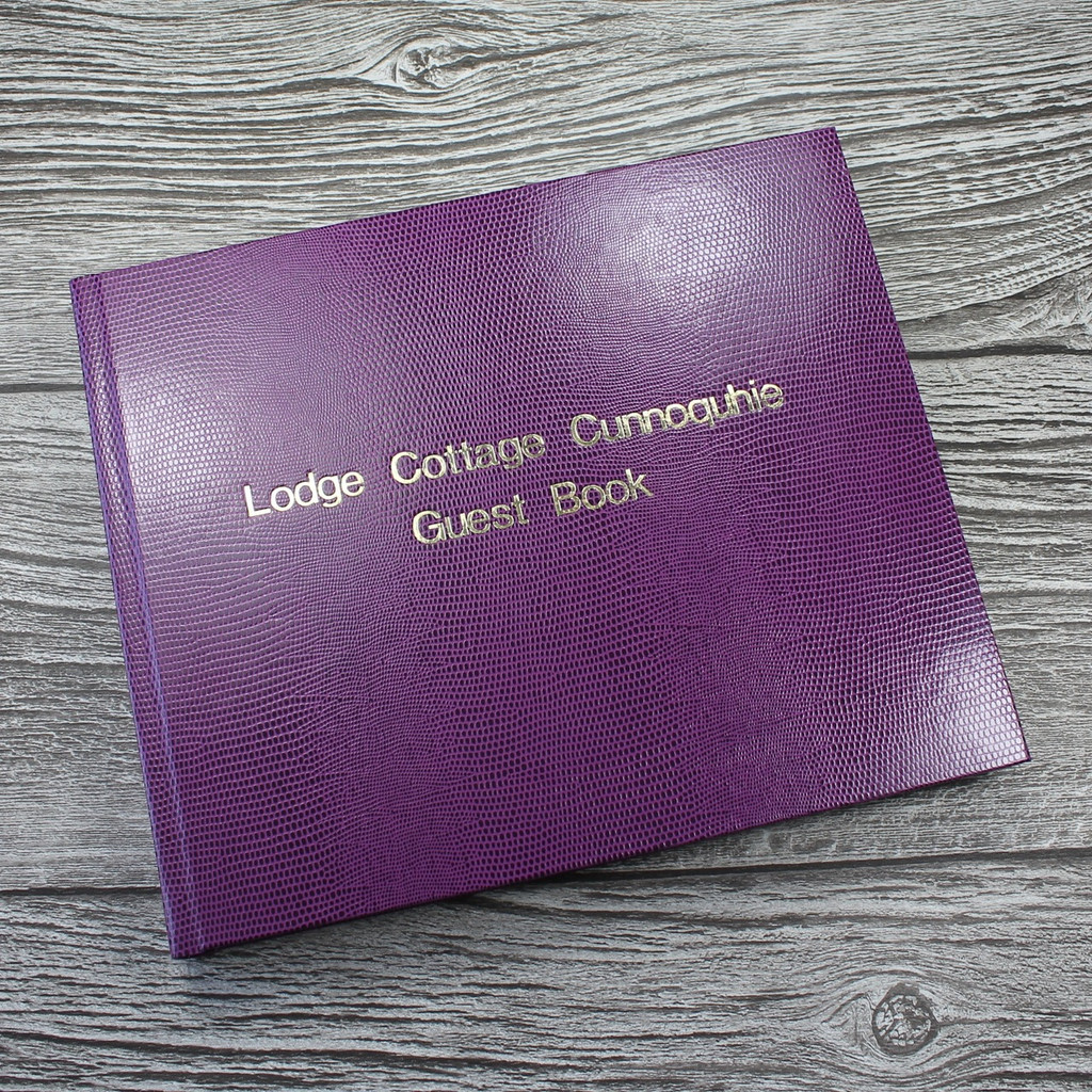 Visitor Guest Book - Plum Lizard Effect Finish