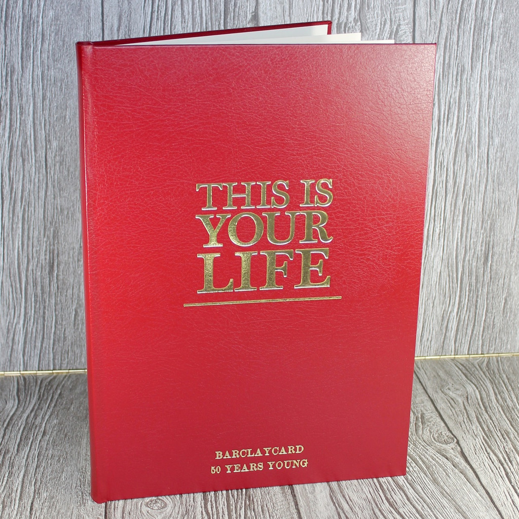'This Is Your Life Style' Red Photo Album Scrapbook - Sizes A4, A3 & A2