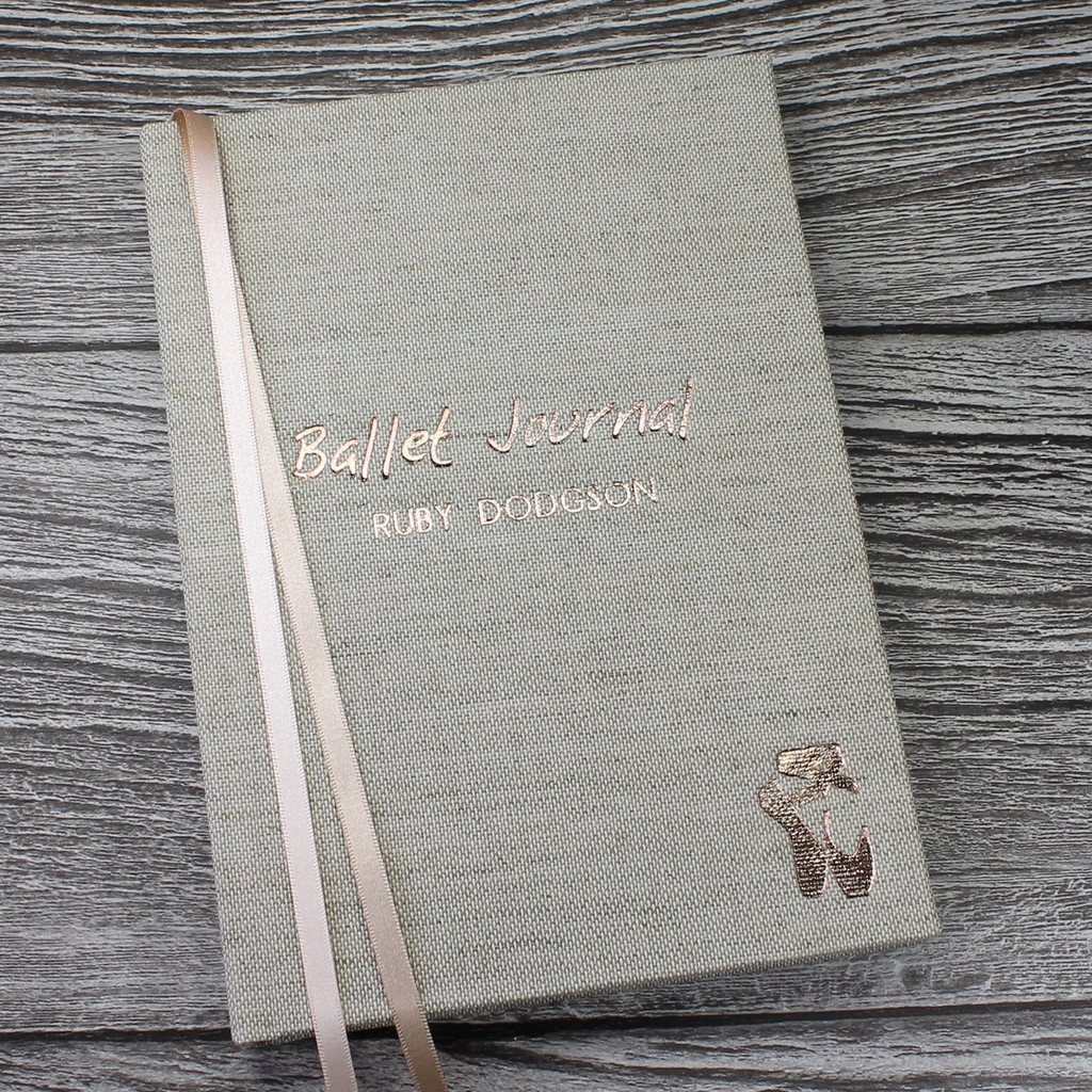 Personalised Ballet Journal / Ballet Diary - A5 Portrait