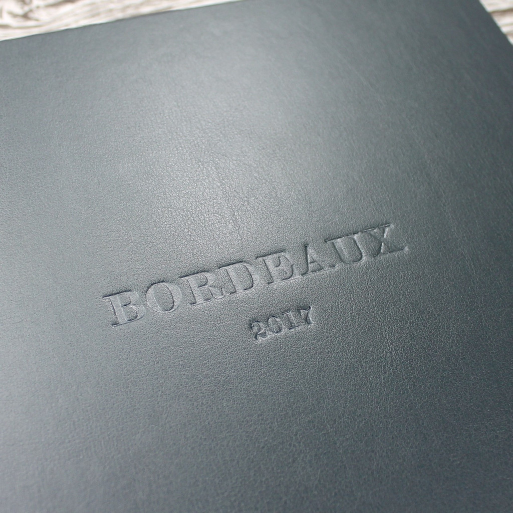 Traditional Dark Grey Leather Photo Album
