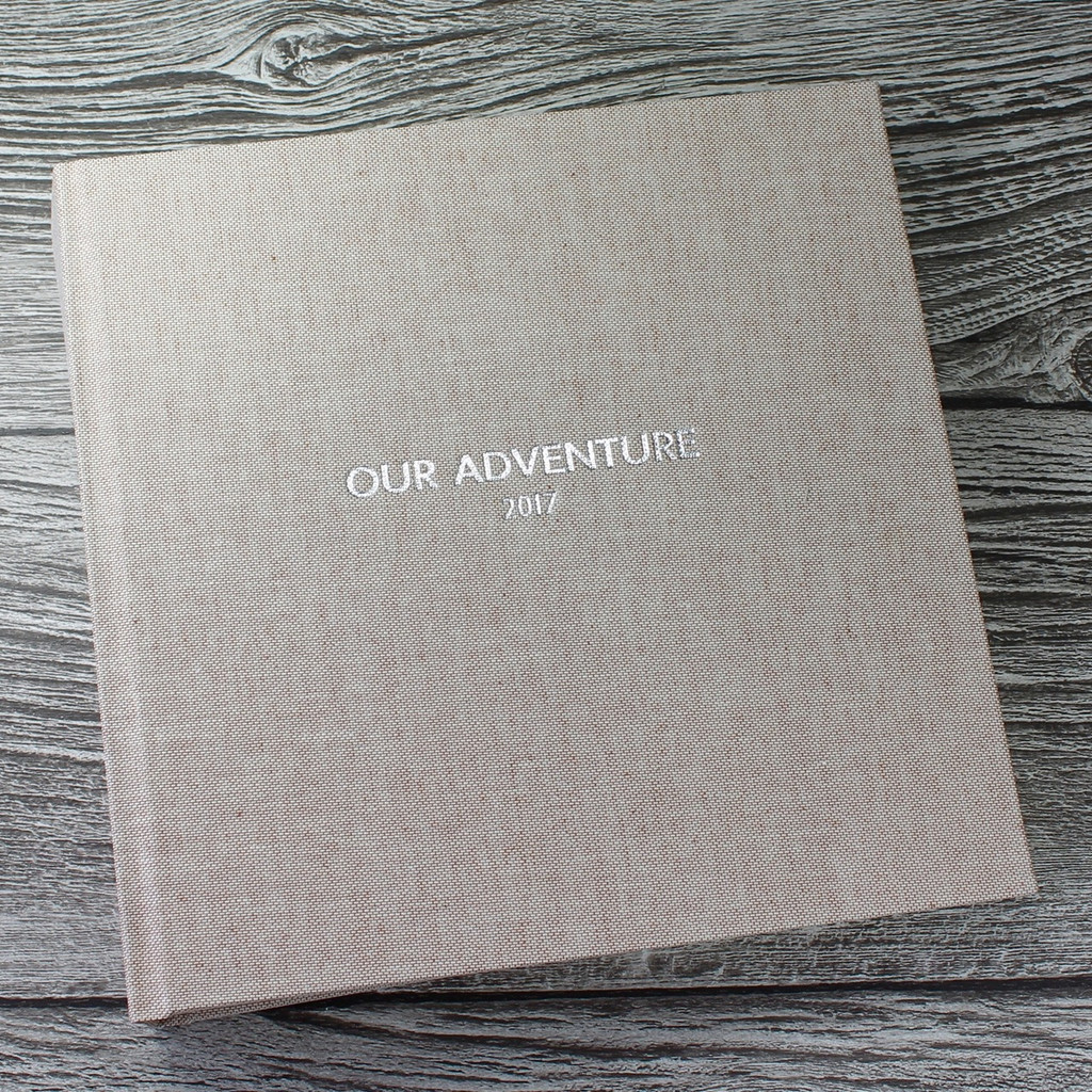 Contemporary Peach Blush Linen Photo Album