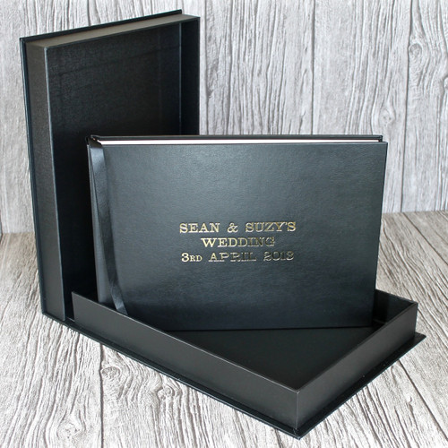 Drop Back / Clamshell Box In Black Leather