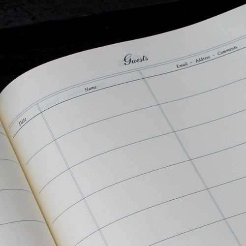 Visitor Guest Book - Sapphire Blue Mamba Effect Leather