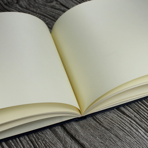 Personalised Funeral Guest Book / Remembrance / Condolence Book - White Buckram Cloth