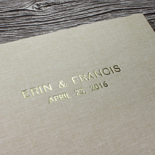 Photo Booth Guest Book - Sand Linen - A5 or A4 Landscape