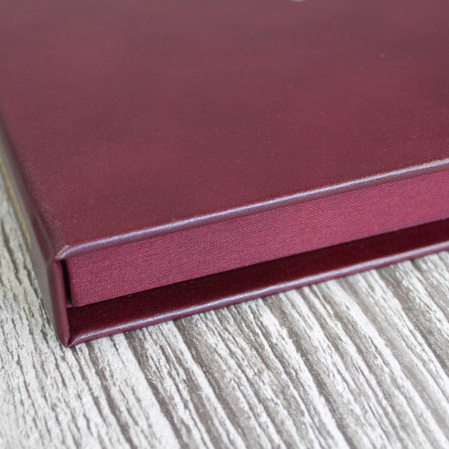 Drop Back / Clamshell Box - Burgundy Leather