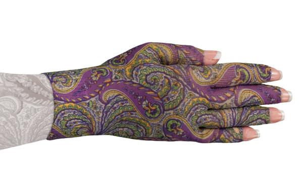 Purple Paisley Glove