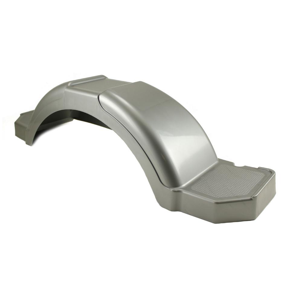 Plastic Trailer Fenders Tandem : Silver plastic step trailer fender inch tire