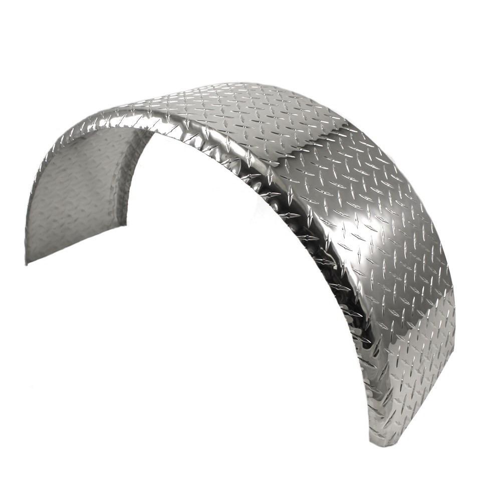 Aluminum Trailer Fenders : Aluminum tread plate trailer fender single axle round