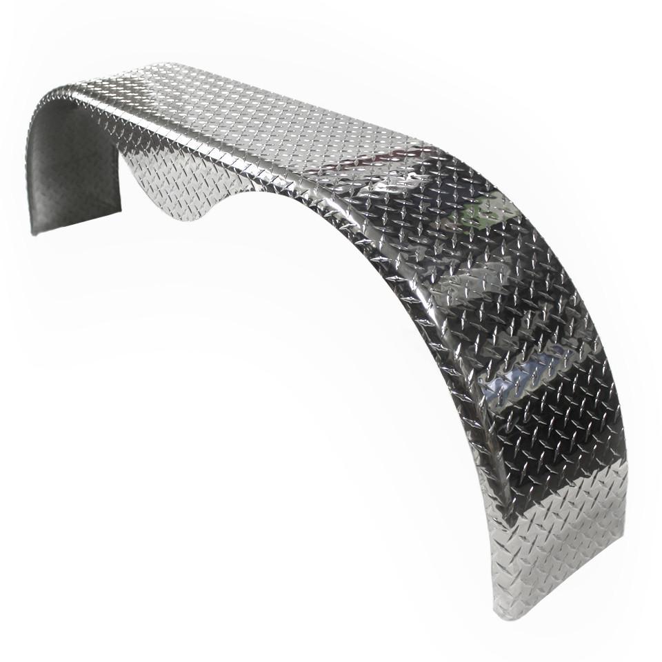 Aluminum Trailer Fenders : Aluminum tread plate trailer fender tandem axle