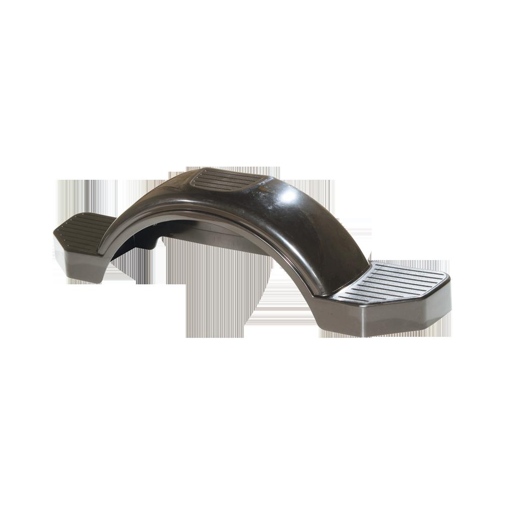 Plastic Trailer Fenders Tandem : Fulton black plastic trailer fender quot tire size