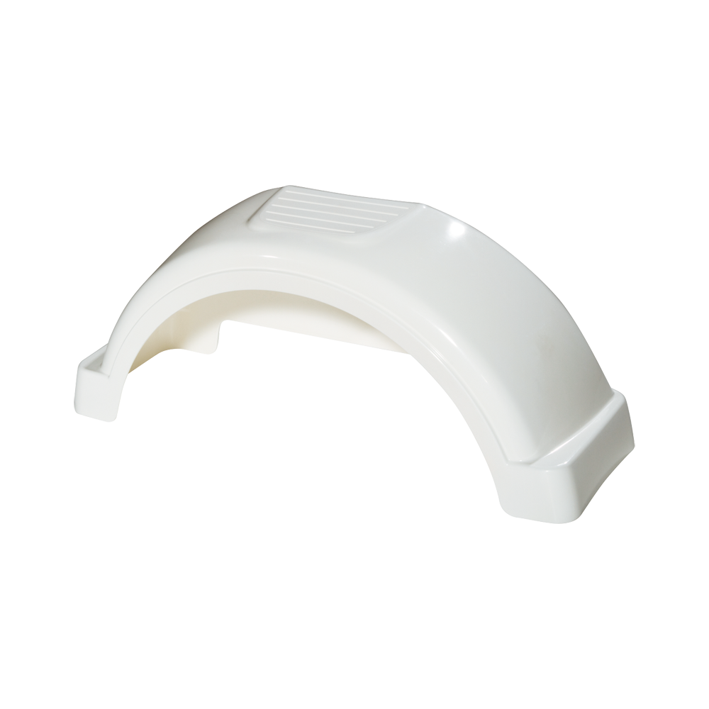 Plastic Trailer Fenders Tandem : Fulton white plastic trailer fender quot tire size